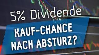 5% Dividende: Kauf-Chance nach Absturz?