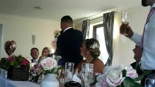 West Ham fan delivering his wedding speech