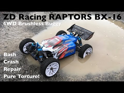 ZD Racing RAPTORS BX-16 4WD Brushless Buggy: Bash, Torture, Crash, Repair! - UCqWO3PNCSjHmYiACDMLr23w