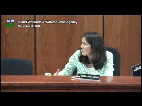 Inland Wetlands & Watercourses Agency, November 26, 2018