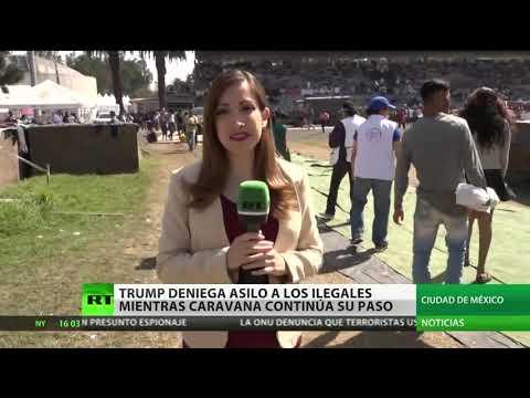 La caravana continúa su paso tras orden de Trump de denegar el asilo a inmigrantes ilegales