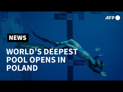 World's deepest diving pool opens in Poland   AFP photo