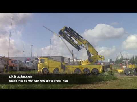 div3785 Scania P450 MPG 350 tm crane