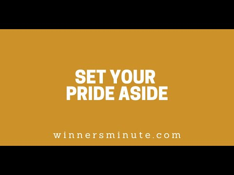 Set Your Pride Aside // The Winner's Minute With Mac Hammond