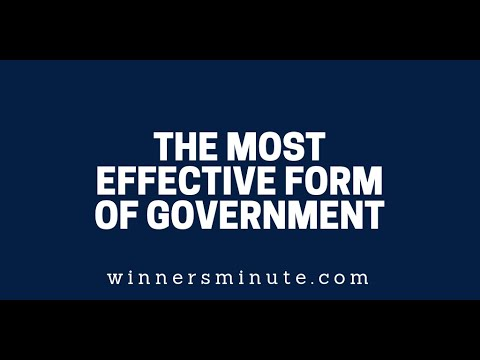 The Most Effective Form of Government  The Winner's Minute With Mac Hammond