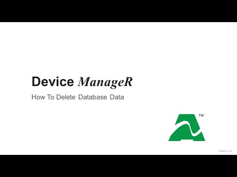 AVTECH Device ManageR: How To Delete Database Data