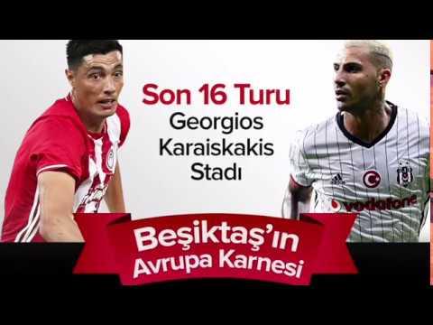 UEFA Avrupa Ligi Son 16 Turu Olympiacos-Beşiktaş