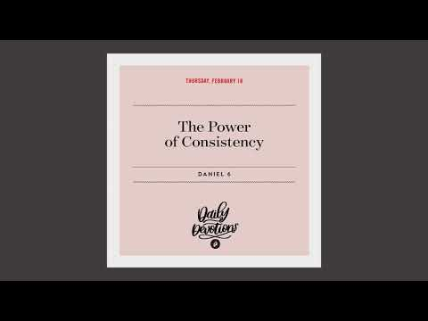 The Power of Consistency  Daily Devotional