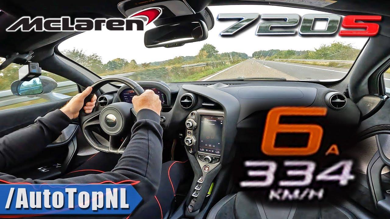 McLaren 720S *334KM/H* on AUTOBAHN [NO SPEED LIMIT] by AutoTopNL