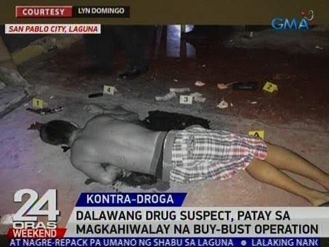 24 Oras: 2 drug suspect, patay sa magkahiwalay na buy-bust operation sa Laguna