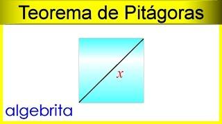 Hallar La Diagonal De Un Cuadrado Si Conocemos Su área Teorema De Pitágoras 358 Youtube