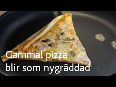 Pizzarester värms bäst i stekpanna
