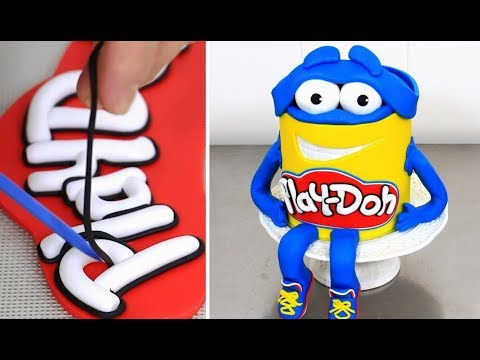 How to make a Funny PLAY-DOH Character Cake by Cakes StepbyStep - UCjA7GKp_yxbtw896DCpLHmQ