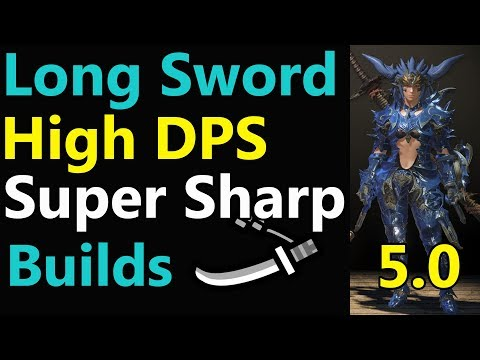 MHW: Long Sword 100% Affinity HIGH DPS   White Sharpness   Mixed set