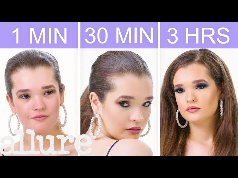 Getting Selena Gomez's Look in 1 Minute, 30 Minutes, and 3 Hours - Makeup Challenge | Allure