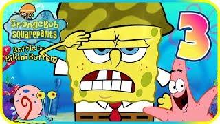 SpongeBob Battle for Bikini Bottom Walkthrough Part 3 (PS2) Downtown Bikini Bottom ᴴᴰ