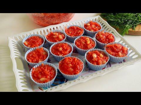 Замораживаем Заправку для БОРЩА на зиму!Быстрая томатная  заготовка без заморочек