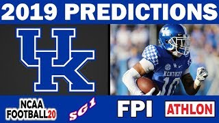 Kentucky Wildcats 2019 Football Predictions - Comparing Sources