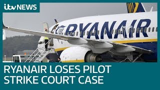 Ryanair pilots to strike but airline says flights will go ahead | ITV News