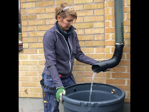 Koppla bort stuprör och  installera en regnvattentunna