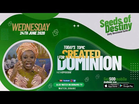 Dr Becky Paul-Enenche - SEEDS OF DESTINY  WEDNESDAY JUNE 24, 2020