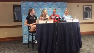 Julie Ertz, Alyssa Naeher, Morgan Brian, Tierna Davidson - World Cup Champions Press Conference