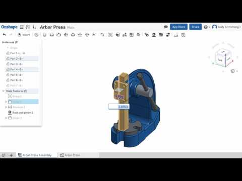 What's New in Onshape (February 13th, 2017) Enter Mate Values