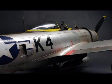 Republic P-47 Thunderbolt Eduard 1/32 plastic model time lapse build - UCpR5xuurEcUJG5IhkbmeCvw