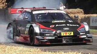 Audi RS5 DTM 2017 Sound – Accelerations  Burnouts!