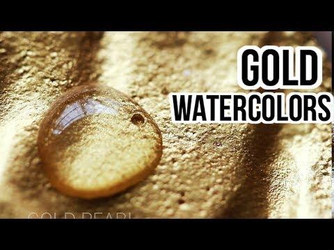 Starry Colors vs FINETEC (Gold Watercolor Review) !