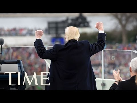 4K VR Behind The Podium Of Donald Trump's 2017 Presidential Inauguration Speech   360 Video   TIME
