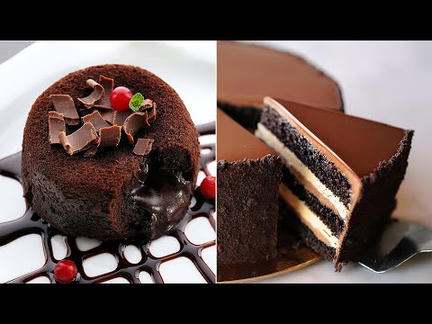 Yummy and Delicious Chocolate Cake Recipes and ICE Cream Ideas | Satisfying Chocolate Cakes