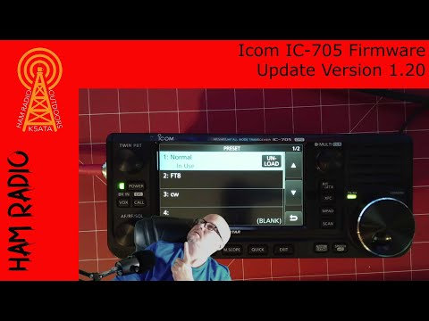 Icom IC-705 Firmware Update and Overview Ver. 1.20