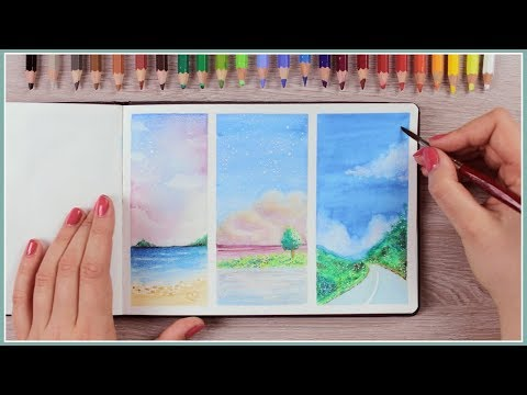 How to Paint with Watercolor Pencils – Painting Ideas for Beginners | Art Journal Thursday Ep. 40