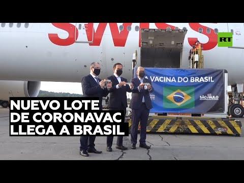 Brasil recibe 600 litros de la vacuna china CoronaVac