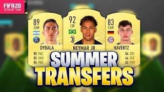 FIFA 20 SUMMER TRANSFERS! CONFIRMED DEALS & RUMOURS! w/ NEYMAR, HAVERTZ, DYBALA & MORE!