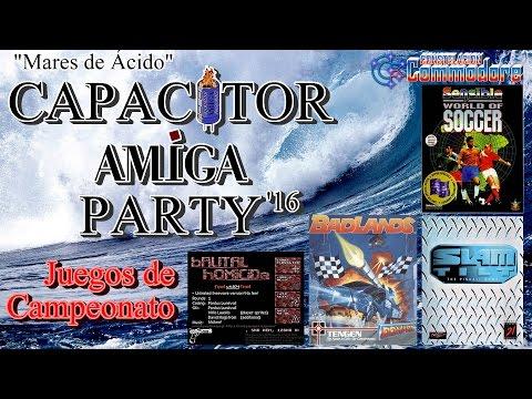 Capacitor Amiga Party 2016 Juegos de Campeonato