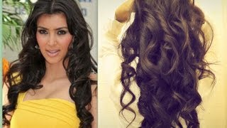 Kim Kardashian Hair Tutorial How To Curl Long Hair Big Sexy