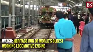 Watch: Heritage run of world's oldest working locomotive engine