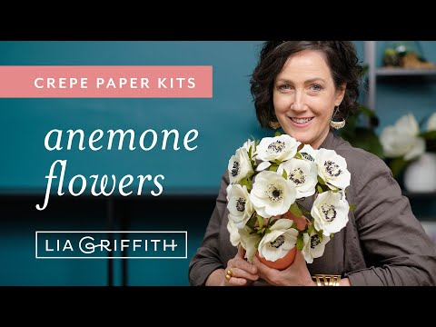 Crepe Paper Anemone Flower Kit (full tutorial)