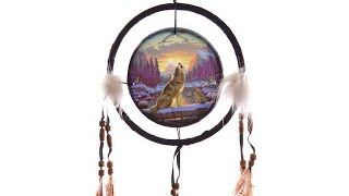 Yhon Soto Solutions - Novelty Gift Decorative Howling at the Sunset 16cm Dreamcatcher