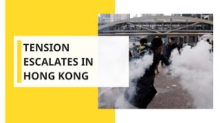 Chaotic clashes between police and protesters in Hong Kong shopping centre