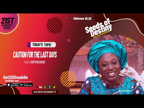 Dr Becky Paul-Enenche - SEEDS OF DESTINY - FRIDAY AUGUST 21, 2020