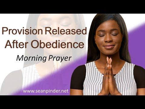 GENESIS 22 - PROVISION RELEASED AFTER OBEDIENCE - MORNING PRAYER  PASTOR SEAN PINDER (video)
