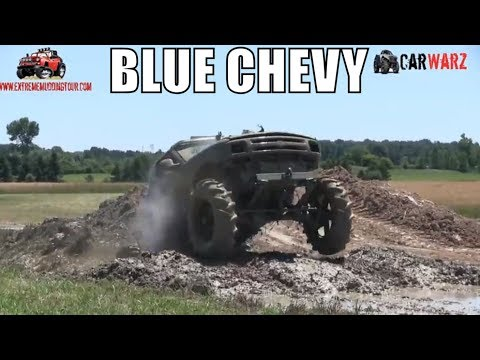 Blue Chevy Truck Mudding At Red Barn Customs 2018
