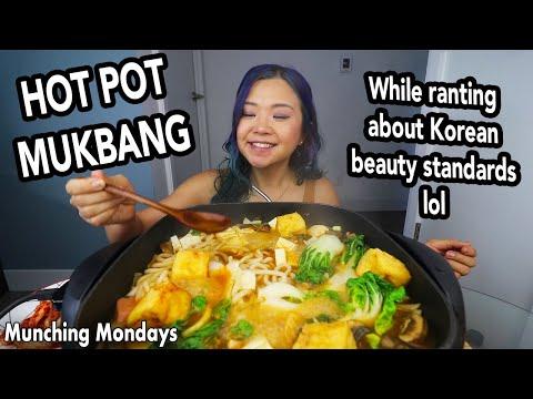 "Korean Style Hot Pot Recipe("") MUKBANG while Ranting lol"