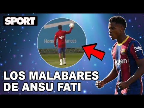 LOS MALABARES de ANSU FATI en los ENTRENAMIENTOS del FC BARCELONA 🧞♂