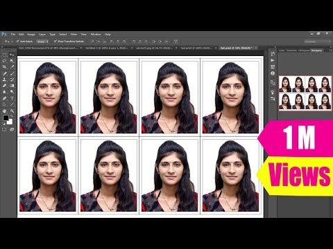 How to Create Passport size Photo as in Studio (One Click) - UCKy1dAqELo0zrOtPkf0eTMw