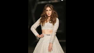 Sara Ali Khan First Ramp Walk India couture week at FDCI India couture week 2019