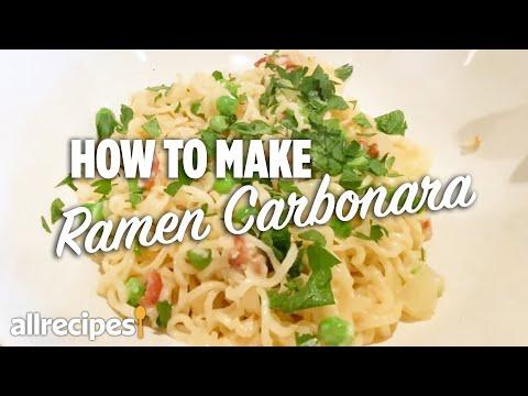 How to Make Ramen Carbonara #WithMe | At Home Recipes | Allrecipes.com